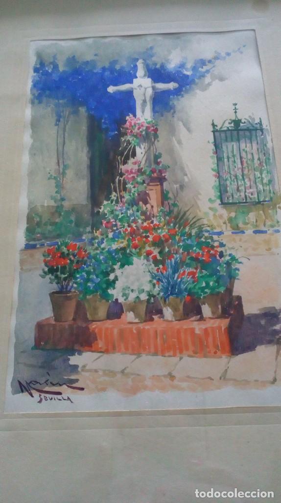 Arte: Pareja de acuarelas de Diego Marín López (Granada 1865-1917) - Foto 17 - 102552523