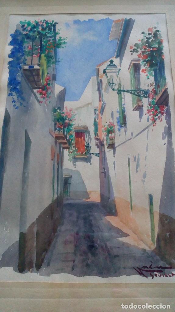 Arte: Pareja de acuarelas de Diego Marín López (Granada 1865-1917) - Foto 18 - 102552523