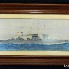 Arte: CRUCERO CANARIAS - GUASCH 1937 - JOSE MORELL MACIAS AL CAPITÁN GABRIEL RODRIGUEZ ACOSTA. Lote 102701203