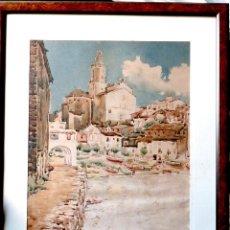 Arte: ACUARELA DE CADAQUÉS.SANTIAGO COSTA I VAQUÉ(MORA D'EBRE 1895-TORTOSA 1984). Lote 102744379