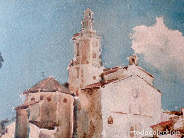 Arte: acuarela de Cadaqués.Santiago Costa i Vaqué(mora debre 1895-tortosa 1984) - Foto 3 - 102744379