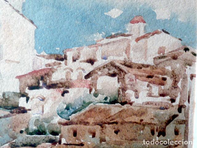 Arte: acuarela de Cadaqués.Santiago Costa i Vaqué(mora debre 1895-tortosa 1984) - Foto 4 - 102744379