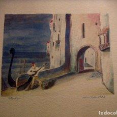 Arte: ACUARELA DE VENECIA 1932 FIRMADA. Lote 102994975