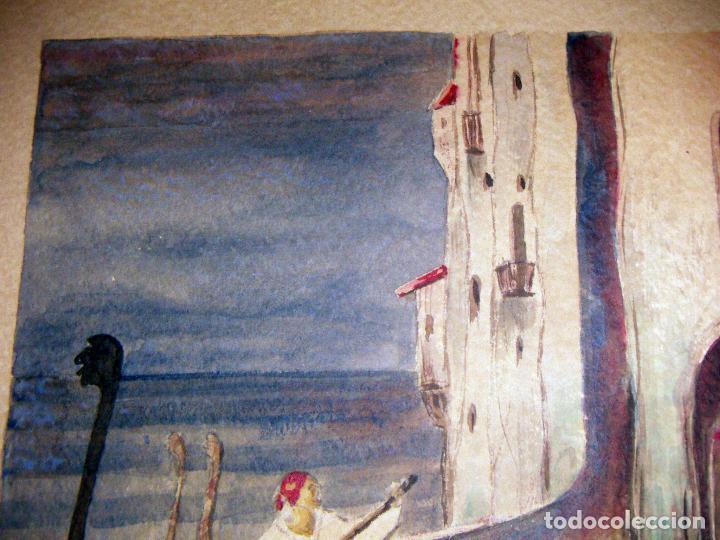 Arte: Acuarela de Venecia 1932 firmada - Foto 2 - 102994975