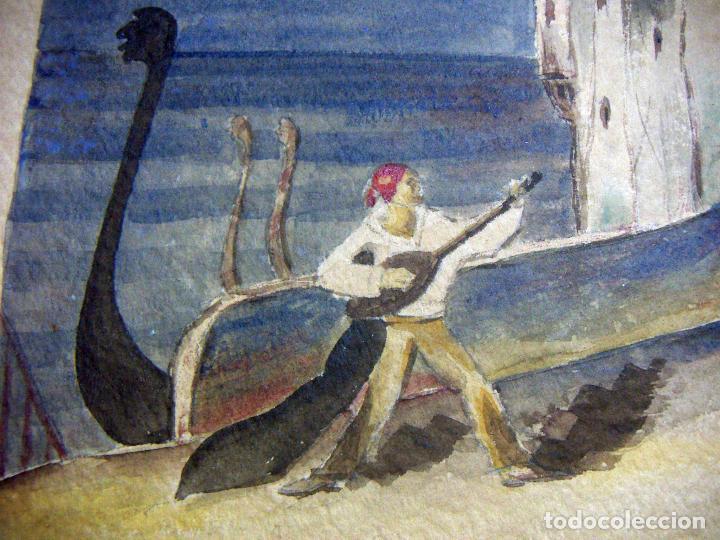 Arte: Acuarela de Venecia 1932 firmada - Foto 4 - 102994975