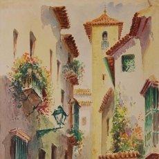 Arte: MAXI HUERTAS ( 1920'S ). SEVILLA: BARRIO DE SANTA CRUZ. Lote 103377555