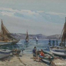Arte: MARIANO BRUNET (1918-1999) FIESTA DE LA SANTA CREU FIGUERAS 1973. Lote 103469007