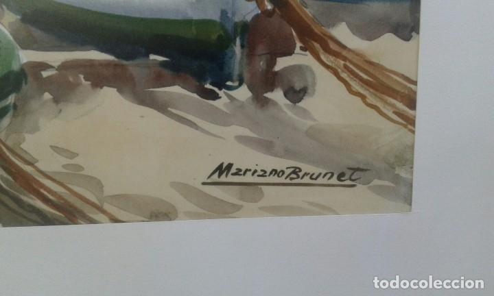 Arte: Mariano Brunet (1918-1999) Fiesta de la Santa Creu Figueras 1973 - Foto 3 - 103469007