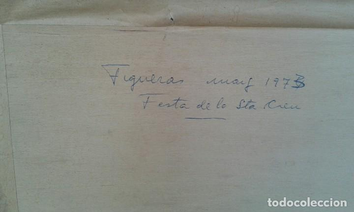 Arte: Mariano Brunet (1918-1999) Fiesta de la Santa Creu Figueras 1973 - Foto 5 - 103469007