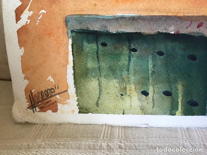 Arte: Acuarela con los balcones típicos de Teror, Gran Canaria - Foto 6 - 103681851