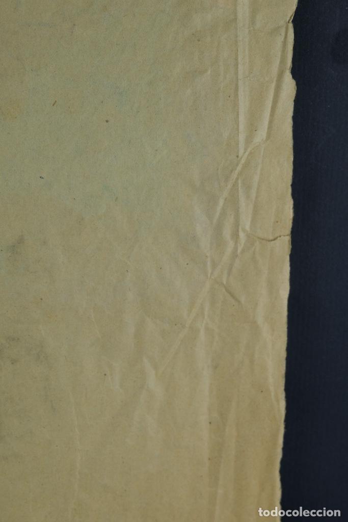 Arte: Gouache sobre papel Escena costumbrista oriental principios siglo XX - Foto 10 - 103776415