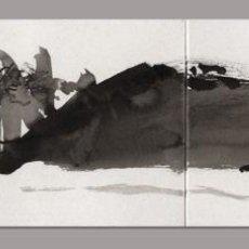 Arte: BAHÍA · FIRMADO MMASSA · TINTA SOBRE CARTULINA, DÍPTICO, TAMAÑO ABIERTO: 10 X 36 CM. Lote 103807747