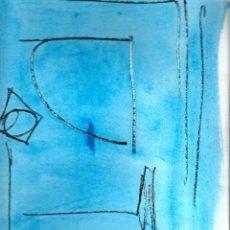 Arte: ACUARELA FIRMADA 'RAFOLS CASAMADA' - SIN TITULO - NO PUEDE ASEGURARSE SI ES ORIGINAL - AÑOS 80 ?. Lote 103854371