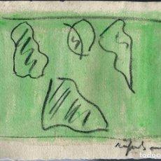 Arte: ACUARELA FIRMADA 'RAFOLS CASAMADA' - SIN TITULO - SE DESCONOCE SI ES O NO ORIGINAL - AÑOS 80 ?. Lote 103854675