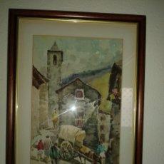 Arte: PAREJA DE ACUARELAS DE MANUEL ZAMORA MUÑOZ. Lote 103903876