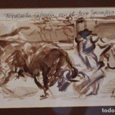 Arte: ACUARELA DE ONESIMO ANCIONES. . Lote 103991787