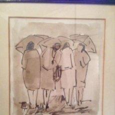 Arte: ACUARELA DE VALENTÍN MANTEROLA (ZUMAIA 1946). Lote 104060567
