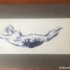 Arte: BONITA ACUARELA, TORSO DESNUDO. ANÓNIMO. . Lote 104097027