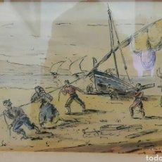 Arte: ACUARELA JOAN LLAURADO ARENAS (MATARÓ 1920-2014). Lote 104124654