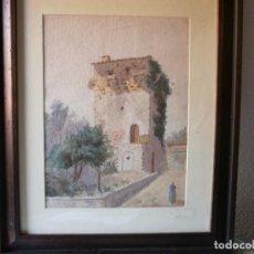 Arte: TORREÓN - GUILLERMO GÓMEZ GIL (1862 - 1942) - ACUARELA. Lote 104421023