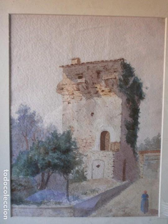 Arte: TORREÓN - GUILLERMO GÓMEZ GIL (1862 - 1942) - ACUARELA - Foto 2 - 104421023