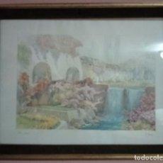 Arte: PINTURA ACUARELA POR EL PINTOR M MARTEN - FIRMADO. Lote 104649351