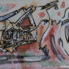 Arte: MARYSE RAYN (BÉLGICA, 1957) ACUARELA, GOUACHE Y TINTA SOBRE PAPEL FIRMADO. Lote 105452311
