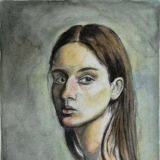 Kunst - Septiembre, retrato mujer acuarela, arte, pintura, original, retrato, chica, mujer, Gestodedios - 105515903