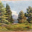 Arte: ACUARELA CON PAISAJE RURAL FIRMADA POR D. KOECHLIN Y FECHADA EN 1910. Lote 105624435