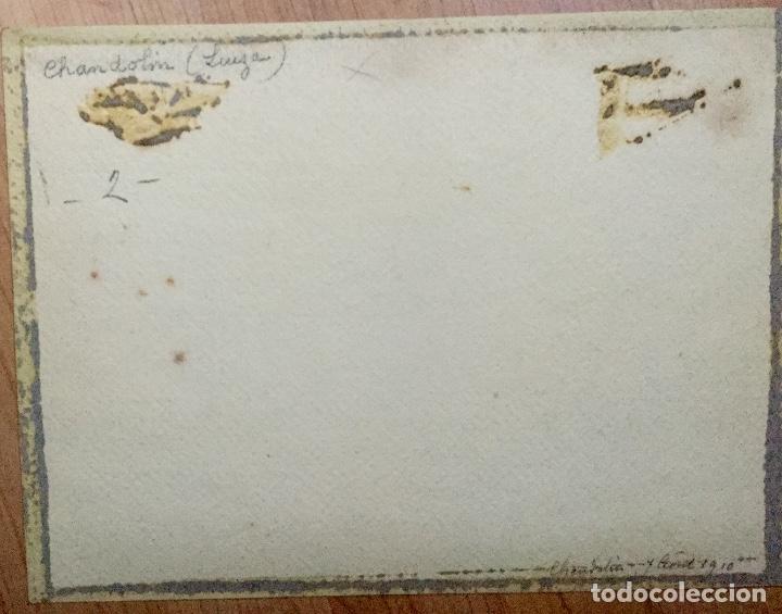 Arte: Acuarela con paisaje rural firmada por D. Koechlin y fechada en 1910 - Foto 4 - 105624435