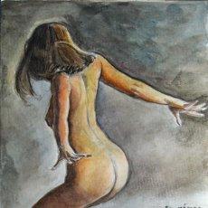 Kunst - Arte original, acuarela, mujer, desnudo, coleccionismo arte, pintura, dibujo chica, Gestodedios - 105650207