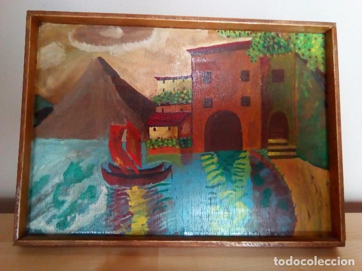 CUADRO PINTADO EN ACUARELA (Arte - Acuarelas - Modernas siglo XIX)
