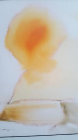 Arte: MAGNIFICO CUADRO PINTADO ACUARELA - TEMA SOL NACIENTE - FIRMADO - EN MARCADO CON CRISTAL - - Foto 5 - 105705711