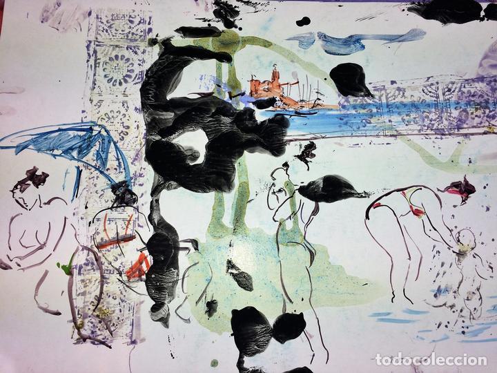 PLAYA DE SITGES. PINTURA. ACUARELA SOBRE PAPEL COUCHÉ. FIRMADO. ESPAÑA. 1996 (Arte - Acuarelas - Contemporáneas siglo XX)