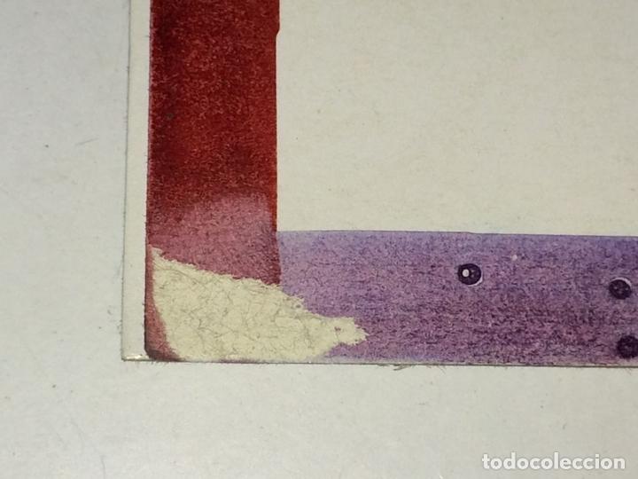 Arte: PLAYA DE SITGES. PINTURA. ACUARELA SOBRE PAPEL COUCHÉ. FIRMADO. ESPAÑA. 1996 - Foto 6 - 106146795