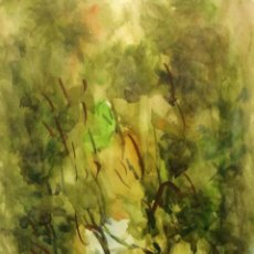 Arte: LA RAMBLA DE BARCELONA. ACUARELA SOBRE PAPEL. FIRMADO DAVID MERCADÉ. ESPAÑA. XX. Lote 106230767