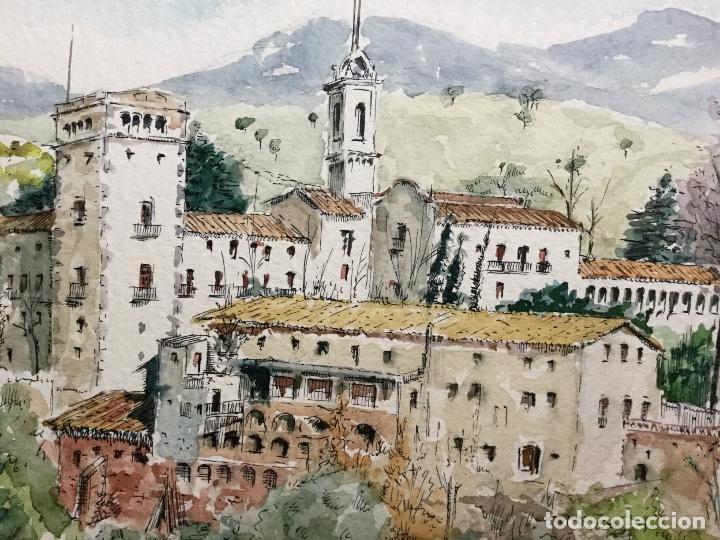 Arte: Acuarela con paisaje del acuarelista y dibujante catalán Francesc Sandiumenge i Gay (1930-2017) - Foto 2 - 106640543