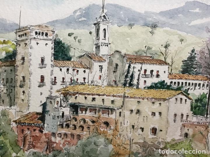 Arte: Acuarela con paisaje del acuarelista y dibujante catalán Francesc Sandiumenge i Gay (1930-2017) - Foto 3 - 106640543