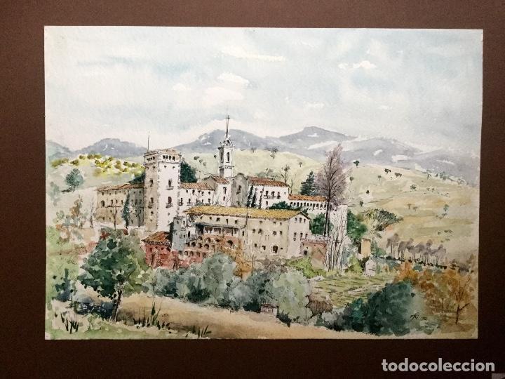 Arte: Acuarela con paisaje del acuarelista y dibujante catalán Francesc Sandiumenge i Gay (1930-2017) - Foto 5 - 106640543
