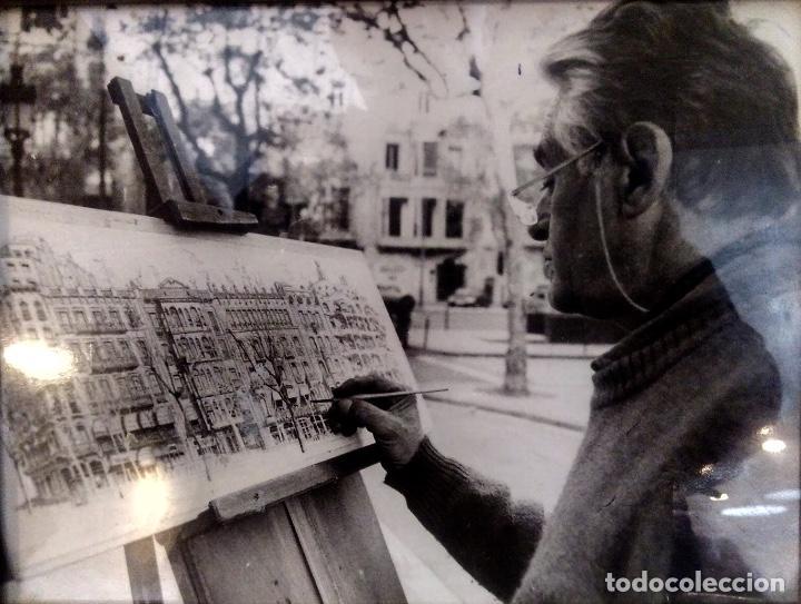 Arte: Acuarela con paisaje del acuarelista y dibujante catalán Francesc Sandiumenge i Gay (1930-2017) - Foto 6 - 106640543