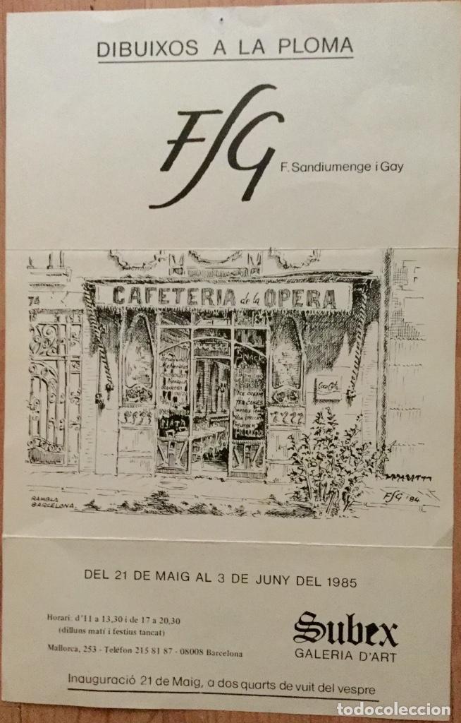 Arte: Acuarela con paisaje del acuarelista y dibujante catalán Francesc Sandiumenge i Gay (1930-2017) - Foto 7 - 106640543