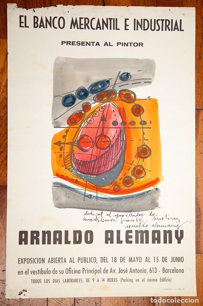 RESERVADO - ARNAU ALEMANY - ACUARELA EN CARTEL - FIRMADO - PRIMERA ÉPOCA (Arte - Acuarelas - Contemporáneas siglo XX)