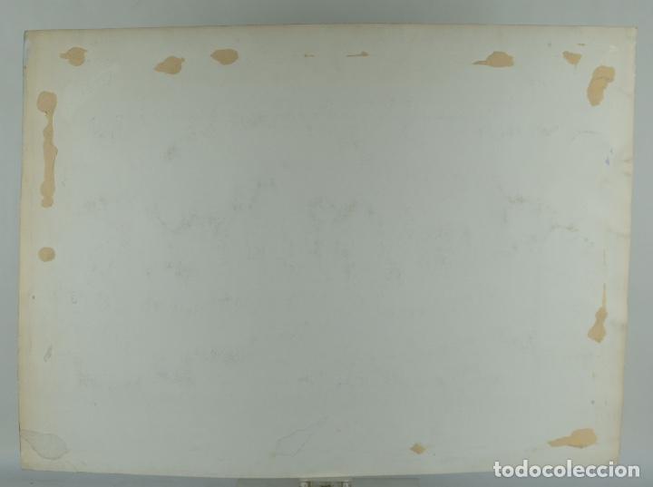 Arte: Acuarela, gouache y tinta sobre Papel Vista Barcelona firma ilegible 1989 - Foto 10 - 106955267