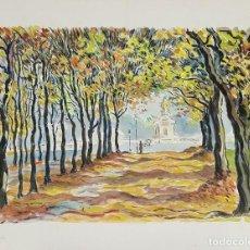 Arte: PLAZA DE LA CONCORDIA. PARÍS. ACUARELA SOBRE PAPEL. A. GUERIN. CIRCA 1940. . Lote 107069855