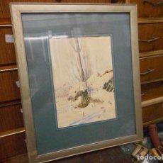 Arte: ACUARELA PAISAJE NEVADO FIRMADA FERRER SALINAS. Lote 107120851