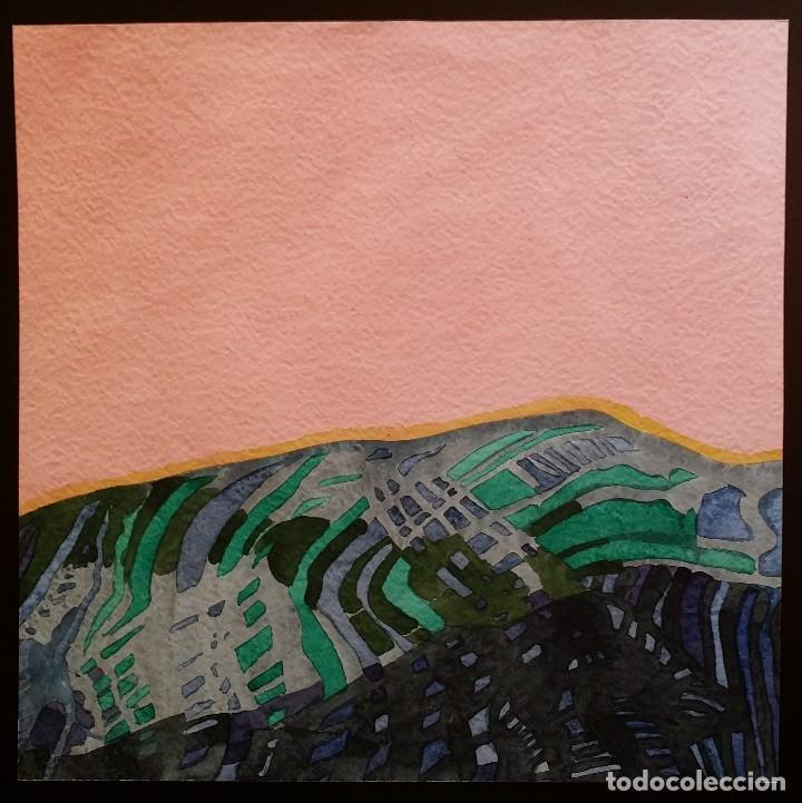 WILLIBRORD HAAS: BARISORDO, ACUARELA FIRMADA Y FECHADA, 1974 (Arte - Acuarelas - Contemporáneas siglo XX)