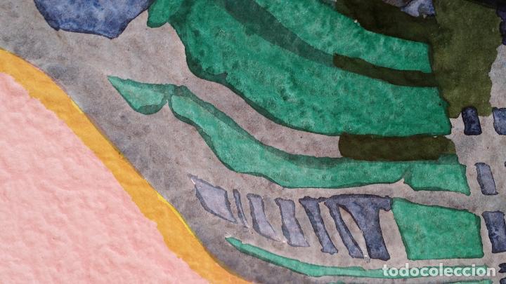 Arte: Willibrord HAAS: Barisordo, acuarela firmada y fechada, 1974 - Foto 3 - 107677135