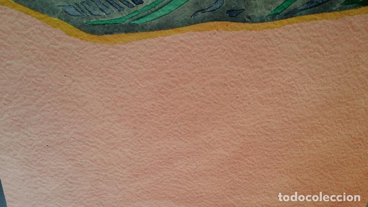 Arte: Willibrord HAAS: Barisordo, acuarela firmada y fechada, 1974 - Foto 6 - 107677135