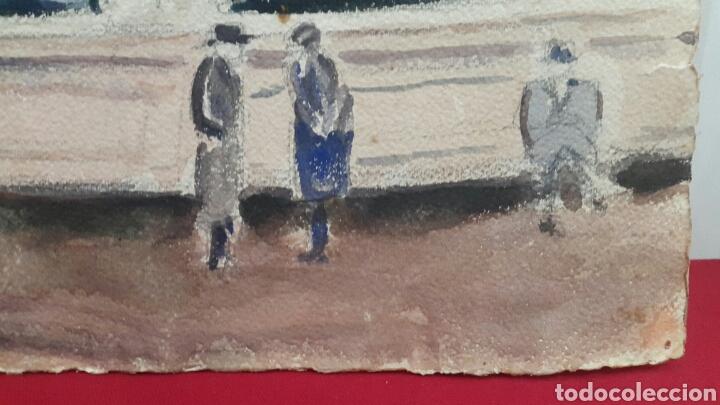 Arte: ACUARELA PLAZA BARTHOLDI DE LYON FIRMADO P.VANIER?? - Foto 3 - 107754975
