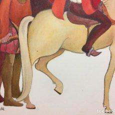 Arte: ILUSTRACIÓN ORIGINAL DE MIREIA CATALA PARA ENCICLOPEDIA INFANTIL, FIRMADA Y CATALOGADA. Lote 108013079